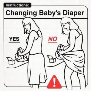 Changing Baby's Diaper  Yes   No