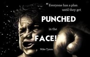 """Everyone has a plan until they get punched in the face.:
