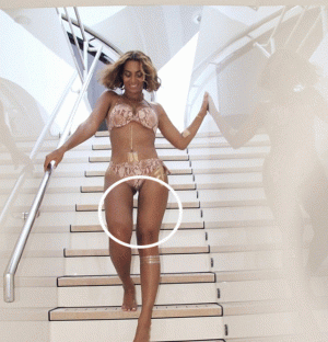 Photos from Beyonce's Tumblr look like they have been photoshopped and people are taking to Twitter with their comments