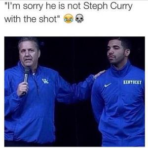 """I'm sorry he is not Steph Curry with the shot"""