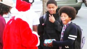 Pranksters set out on the street to spread Christmas with joy with terrible gifts in this funny holiday prank.