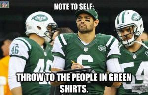Not to self:  Throw to the people in green shirts.