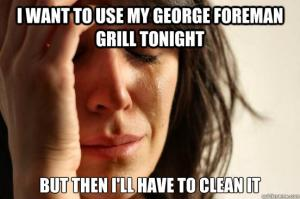 I want to use my George Foreman grill tonight