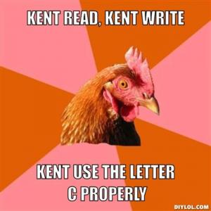 Kent read, Kent write