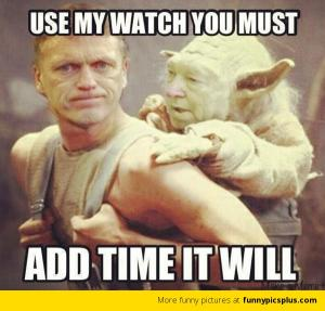 Use my watch you must
