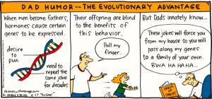 Dad Humor -- The Evolutionary Advantage