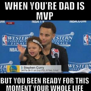 When you're dad is MVP