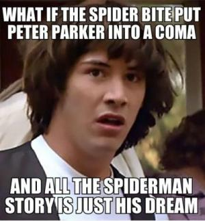 What if the spider bite put Peter Parker into a coma