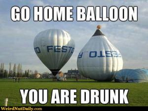 Go home balloon