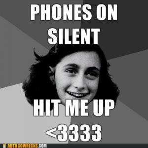 Phones on silent