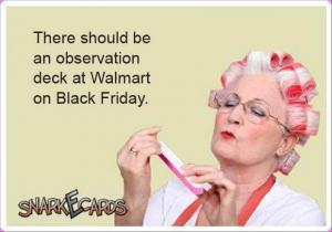 There should be an observation deck at Walmart on Black Friday.