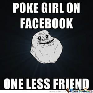 Poke girl on Facebook
