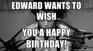 Edward wants to wish