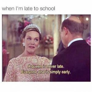 When I'm late to school