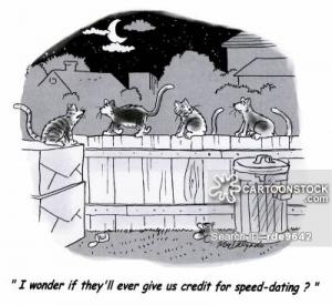 """ I wonder if they'll ever give us credit for speed-dating? ''"