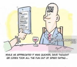 While he appreciated it was quicker, Dave thought QR codes took all the fun out of speed dating...