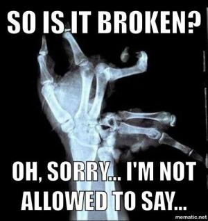 So is it broken?