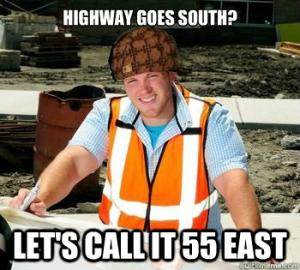 Highway goes south?