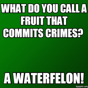 What do you call a fruit that commits crimes?