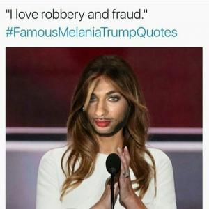 """""""I love robbery and fraud.""""  #"""