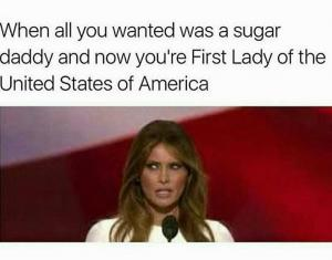 When all you wanted was a sugar daddy and now you're First Lady of the United States of America