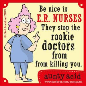 Be nice to E.R. nurses