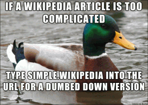 If a Wikipedia article is too complicated