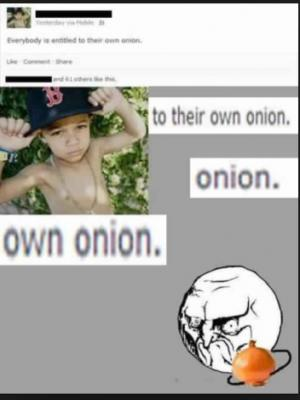Everybody is entitled to their own onion.